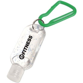 Antibacterial Gel with Carabiner with Your Logo