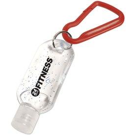 Antibacterial Gel with Carabiner Giveaways