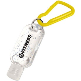 Antibacterial Gel with Carabiner for Advertising