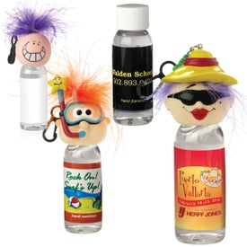 Antibacterial Hand Sanitizer with Goofy Head Clip (1 Oz.)