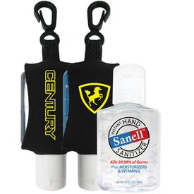 Printed Antibacterial Hand Sanitizer with Neoprene Sleeve