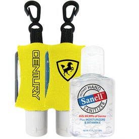 Logo Antibacterial Hand Sanitizer with Neoprene Sleeve