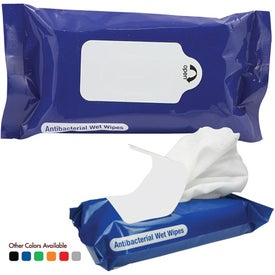 Antibacterial Wet Wipes in Pouch Printed with Your Logo