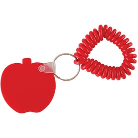 Monogrammed Apple Key Fob with Coil