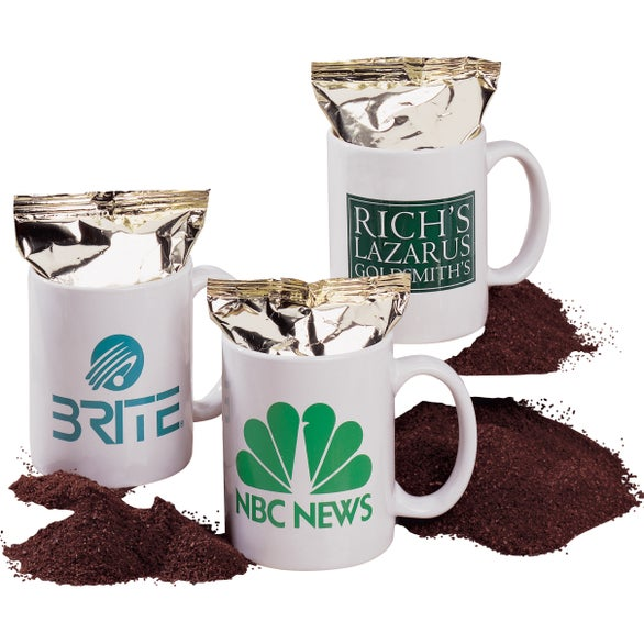 White Arise Coffee Mug with One Pot Coffee Pack