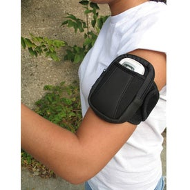 Imprinted Arm Band Media Holder