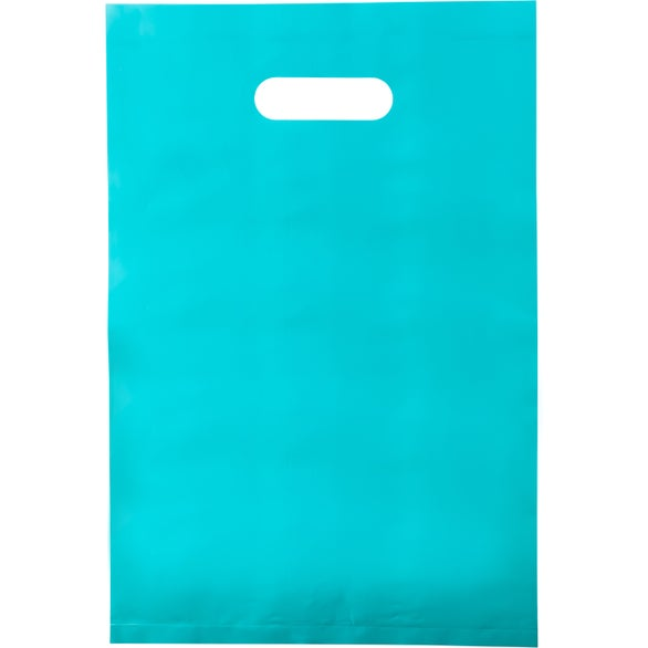 Teal Aster Frosted Bright Plastic Bag