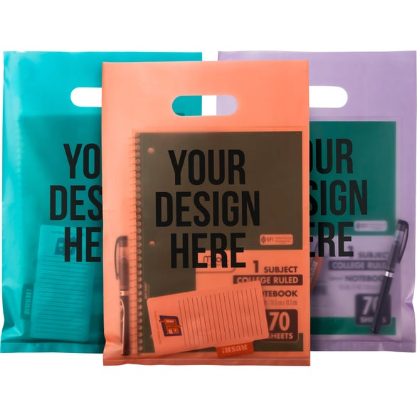 aster frosted bright plastic bag - Custom Plastic Bags
