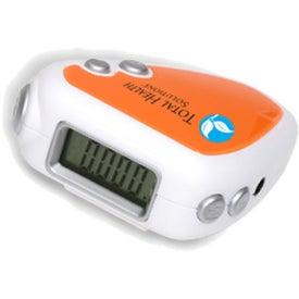 Imprinted Audio Jogger Pedometer/FM Radio