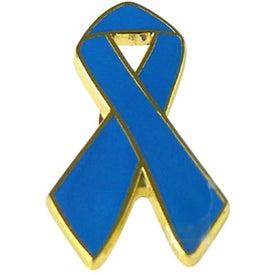 Printed Awareness Ribbon Lapel Emblems