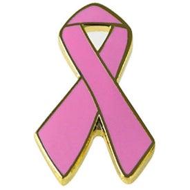 Awareness Ribbon Lapel Emblems Printed with Your Logo