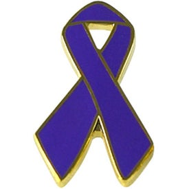 Monogrammed Awareness Ribbon Lapel Emblems