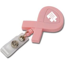 Promotional Awareness Ribbon Retractable Badge Holder