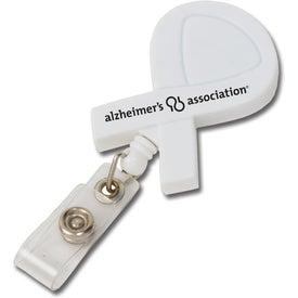 Imprinted Awareness Ribbon Retractable Badge Holder