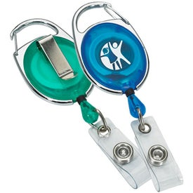 Carabiner Badge Holder with Sport and Pocket Clips