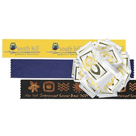 Printed Badge Satin Ribbon