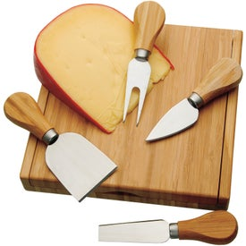 Promotional Bamboo Cheese Utensil Set