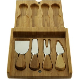 Bamboo Cheese Utensil Set with Your Logo