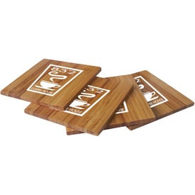 Bamboo Coasters Printed with Your Logo