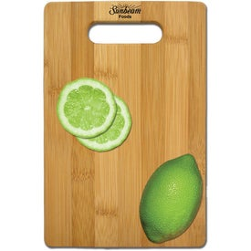 Natural Bamboo Cutting Board Printed with Your Logo