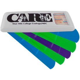 Printed Bandage Dispenser with Colored Bandages