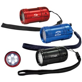 Barrel 6 LED Flashlight Giveaways