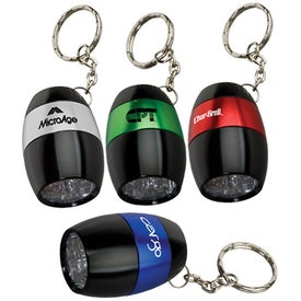 Barrel Metal Flashlight with Key Tag