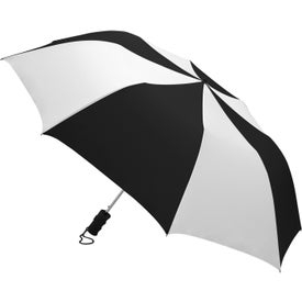 Barrister Auto-Open Folding Umbrella with Your Slogan