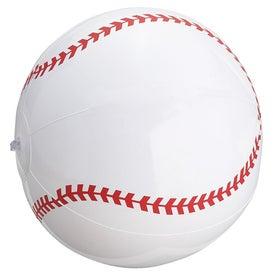 Monogrammed Baseball Inflatable Beach Ball