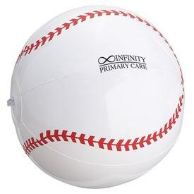 "Baseball Inflatable Beach Ball (14"")"