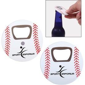 Baseball Bottle Opener Printed with Your Logo