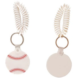 Baseball Key Fob with Coil Giveaways