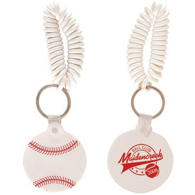 Baseball Key Fob with Coil