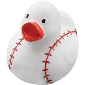 Customized Baseball Rubber Duck