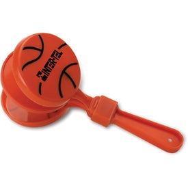 Basketball Clapper Imprinted with Your Logo