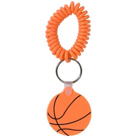 Advertising Basketball Key Fob with Coil