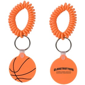 Basketball Key Fob with Coil