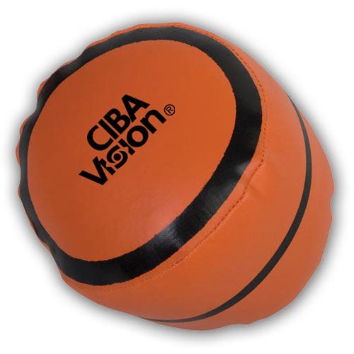 Orange Basketball Pillow Ball
