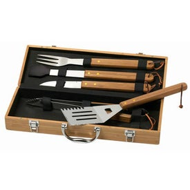 BBQ 5 Piece Deluxe Bamboo Set