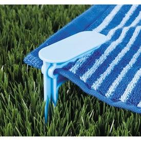 Monogrammed Beach Towel Clips