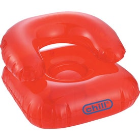 Logo Beach Bum Inflatable Head Chair Pillow