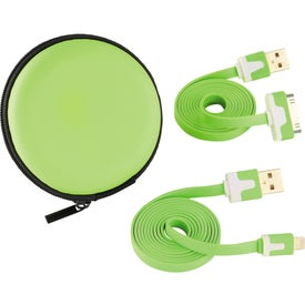 Imprinted Beetle Charging Cables with Case