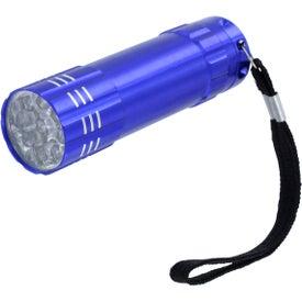 Monogrammed Beveled Metal Flashlight