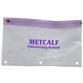 Binder Pencil Pouch Printed with Your Logo