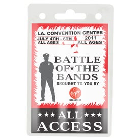 Narrow Clear Badge Holders with Your Logo