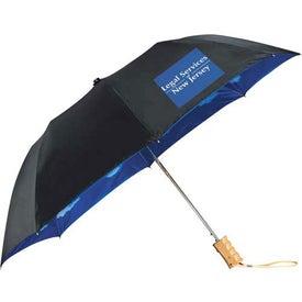 Blue Skies Auto Folding Umbrella Printed with Your Logo