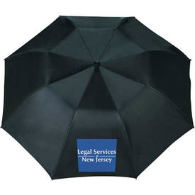 Logo Blue Skies Auto Folding Umbrella