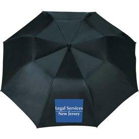 Logo Blue Skies Auto Folding Umbrella