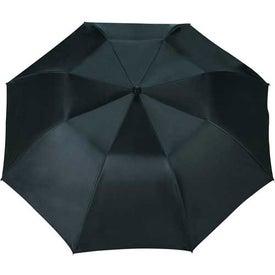 Monogrammed Blue Skies Auto Folding Umbrella