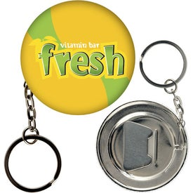 Bottle Opener Key Chain Button